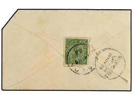 4964 INDIA PORTUGUESA. Ed.AF.131. 1885. NOVA GOA A KARACHI. <B>6 Reis</B> Verde, Sobre Reducido Por La Derecha Y Corte E - Briefmarken