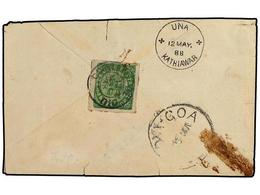 4965 INDIA PORTUGUESA. Yv.AF 128. 1888. DIU A INDIA INGLESA. <B>6 Reis</B> Verde. Muy Raro En Carta. - Briefmarken