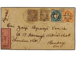 4969 INDIA PORTUGUESA. 1913. DAMAO A BOMBAY. <B>6 Reis S. 9 Reis</B> Gris (2), <B>2 1/2 Reis S. 6 Reis</B> Verde Y <B>1  - Briefmarken