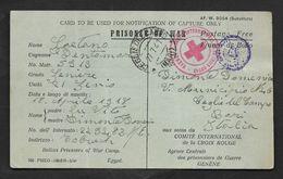 PRISONER OF WAR TOBRUCH KRIEGSFANGENNENPOST 1941 CROCE ROSSA CROIX ROUGE - Documents