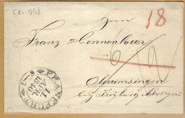 _6Rv-948:brief:125x78 Mm:  FRANKFURT 11 APR. 1840 6-7 >Oberimsingen.. - Deutschland