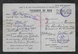 PRISONER OF WAR EGYPT KRIEGSFANGENNENPOST 1941 CROCE ROSSA CROIX ROUGE - Documents