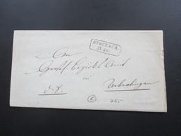 AD Baden Zweifach Verwendeter Brief Stempel R2 Stockach Und K1 Überlingen Bodensee - Bade