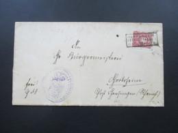 DR 1888 Nr. 41 EF Mit Rahmenstempel R3 Heppenheim (Bergstrasse) AK Stempel K1 Gensingen - Allemagne