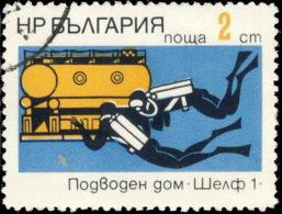 Bulgarie 1973. ~ YT 1986 - Recherche Sous Marine. Plongeurs - Gebraucht