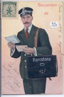 BARCELONA- CARTE A SYSTEME-DEPLIANT-  RECUERDOS DE BARCELONA- ETIQUETTE ESPERANTO - Barcelona