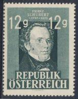 Oostenrijk Austria Österreich 1947 Mi 801 YT 665 * MH - Franz Schubert (1797-1828) Composer / Komponist / Compositeur - Muziek