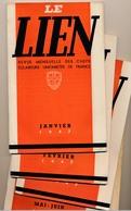 SCOUTISME - Le LIEN - Revue Mensuelle Des Chefs Eclaireurs Unionistes - Janvier 1947 .... 5 Numéros - Scoutisme