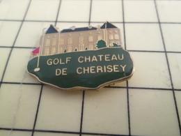 1515C / PINS PIN'S Rare Et De Belle Qualité : THEME SPORTS / GOLF CHATEAU DE CHERISEY Golf Sport Populaire !!! - Golf