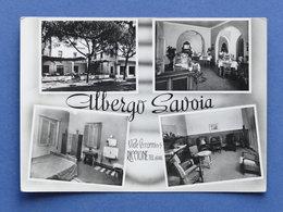 Cartolina Riccione - Viale Ceccarini - Albergo Savoia - 1956 - Rimini