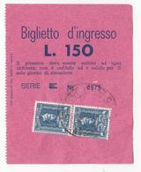 Italy Biglietto D'ingresso Entry Ticket Bar Terazzo Panoramico - Ischia - Catello Aragonese - Revenue Stamps B180720 - Tickets - Vouchers