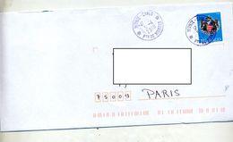 Lettre Cachet Monte Carlo Sur Armoirie - Marcophilie - EMA (Empreintes Machines)