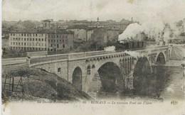 6251 - Drome  -  ROMANS  :  Le Nouveau Pont Sur L'Isére Et Le Train    1914 - Romans Sur Isere