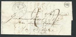 Lac , Cachet OR  ( Forges D'Abloux ) + CAD SAINT Benoit Du Sault ( Dpt 36 ) Pour Poitiers En 1838 -   Pb16502 - Marcophilie (Lettres)