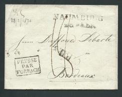 LSC DE Naumburg ( Saxe )  Pour Bordeaux ( France ) , Prusse Par Forbach , 28/02/1820 - Pb16503 - Germany