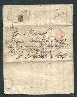 Lac De Paris En 1814 Pour Orléans , P EN ROUGE  - Pb16504 - Postmark Collection (Covers)