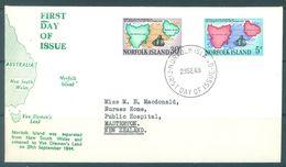 NORFOLK ISLAND - FDC - 23.9.1969  - Yv 102-103 ASC 103-104  - Lot 17479 - Ile Norfolk