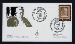 """2014 ITALIA """"CENTENARIO SCOMPARSA SAN PIO X"""" FDC VENETIA - 1946-.. République"""