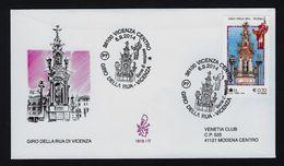"""2014 ITALIA """"GIRO DELLA RUA DI VICENZA"""" FDC VENETIA - 1946-.. République"""