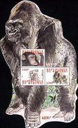 BURUNDI 2011 - GORILLES GORILLE GORILLA GORILLAS APES APE MONKEY MONKEYS SINGES SINGE - ODD SHAPE - RARE - S/S - MNH ** - Gorilles