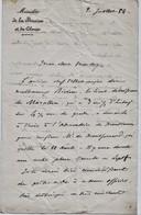 """1884 Signed French Letter From  """"L A Ribourt, Ministere De La Marine Et Des Colonies"""".  Ref 0551 - Autographs"""