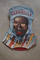 RARE Ancien Carton Publicitaire,chocolat Caramella Mokatine ,Anvers,original,16 Cm. Sur 10,5 Cm. - Publicités