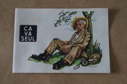 RARE Ancien Carte Publicitaire ça Va Seul 1950 - 1951,illustration De André Linglet,15 Cm. Sur 10,5 Cm. - Pubblicitari