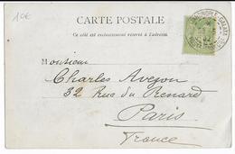1902 - TYPE SAGE De FRANCE UTILISEE En TURQUIE (BUREAU FRANCAIS) - CARTE De CONSTANTINOPLE => PARIS - 1858-1921 Ottoman Empire