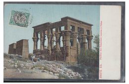 DJIBOUTI -- COTE FRANCAISE DES SOMALIS -- SUR CARTE POSTALE D'EGYPTE --1909 -- - Französich-Somaliküste (1894-1967)