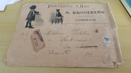 Envelloppe  Publicitaire  Portraits D Art R .bonnereau 9 Rue  Saint - Corneille   Compiègne  ( Dans L état ) - France