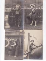 TRES BELLE SERIE COMPLETE 10 CARTES  / ENFANT MOUSSE / MARIN / A VOIR - Portraits