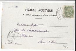 1905 - TYPE BLANC Du LEVANT UTILISEE En TURQUIE (PALESTINE) - CARTE De JERUSALEM => MEULAN - 1900-29 Blanc