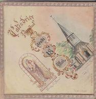Calendrier Perpetuel Notre Dame De Villembray 60  Fait Main Par Biet Calligraphe 60 La Chapelle Aux Pots - Formato Grande : 1941-60