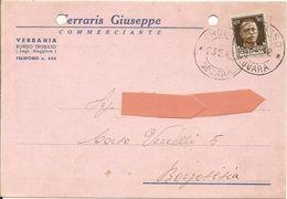 VERBANIA BORGO TROBASO - Cartolina COMMERCIALE FERRARIS GIUSEPPE - VIAGGIATA 1942 - (rif. L96) - Verbania