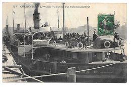 """Cpa...Cherbourg...le """"Gallic"""" A L'arrivée D'un Transatlantique.....animée....... - Cherbourg"""