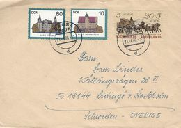 R-Cover Sent To Sweden 1986.  GDR.  H-1368 - [6] Democratic Republic