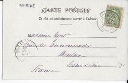 1905 - TYPE BLANC Du LEVANT UTILISEE En TURQUIE (PALESTINE) - CARTE De JERUSALEM => MEULAN - Palestina