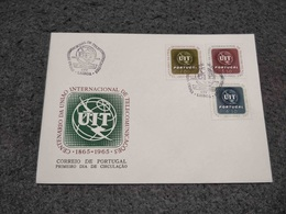 PORTUGAL FDC COVER CENTENARIO DA UNIAO INTERNACIONAL DE TELECOMUNICACOES UIT 1965 - FDC