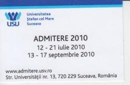 Romania - Visiting Card - Suceava University - Visiting Cards