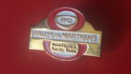 Pin's  Plaque Rallye  Martigues 1992 - Rallye