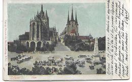 Erfurt In Thüringen, Blick Auf Das Rathaus EGLISE CATHEDRALE 1904 PRECURSEUR - Erfurt