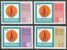 Ceylon. 1968 Human Rights Year. MNH Complete Set. SG 542-545 - Sri Lanka (Ceylon) (1948-...)