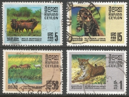 Ceylon. 1970 Wildlife Conservation Used Complete Set. SG 561-564 - Sri Lanka (Ceylon) (1948-...)