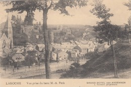 LA ROCHE EN ARDENNE / VUE PRISE DU BANK M-A  PERK / GUERRE 1914-18 / FELDPOST  CACHET BAHNPOST / RARE - La-Roche-en-Ardenne
