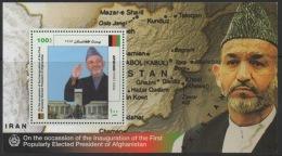 Afghanistan 2004 Sheet Block Bloc Feuillet Hamid Karzai First Elected President Democracy Démocratie Wahlen Election - Afghanistan