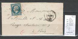 France - Lettre De Nancy  Pour Paris - Yvert 10 Présidence - 1853 - 1852 Louis-Napoleon