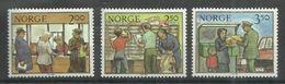 """Norwegen 896-98""""  3 Briefmarken Zur Arbeit Der Post, Satz Kpl."""" Postfrisch Mi. 2,00 - Norvège"""