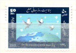 Afghanistan 2011 World Peace Day Paix Frieden Colombe Dove Friendenstaube Oiseau Vogel Bird - Afghanistan