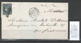 France - Lettre De Bordeaux  Pour Paris - Yvert 4 - Céres 25 Centimes -1850 - 1849-1850 Ceres