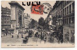 DEPT 75 : Paris 10 : édit. L L N° 104 : Le Boulevard Saint Denis - District 10